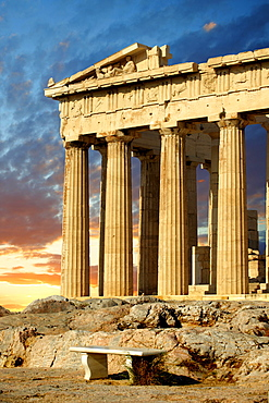 The Parthenon Temple, Acropolis, Athens, Greece, Europe