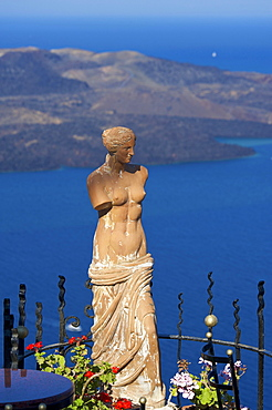 Female torso, statue, Thira, Santorini, Cyclades, Greece, Europe
