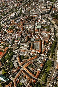 Aerial view, Bielefeld, Ostwestfalen-Lippe region, Westphalia, North Rhine-Westphalia, Germany, Europe