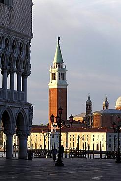 San Giorgio Maggiore and Piazza San Marco, St Mark's Square, Venice, UNESCO World Heritage Site, Venetia, Italy, Europe