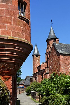 Collonges la Rouge, labelled Les plus beaux villages de France, The most beautiful villages of France, Dordogne valley, Correze, Limousin, France, Europe