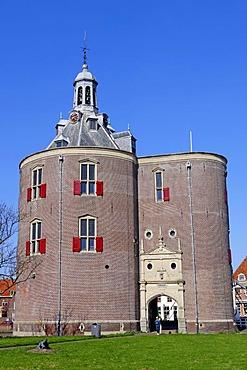 Defence tower, Dromedaris, Enkhuizen, North Holland, Holland, Netherlands, Europe