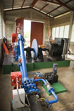Hydropower plant, village El Naranjo in the northeastern uplands, Nicaragua, Central America