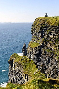 O'Briens Tower, Cliffs of Moher, County Clare, Ireland, Europe