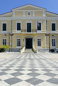 City hall, Samos city, Samos island, southern Sporades, Aegean sea, Greece, Europe