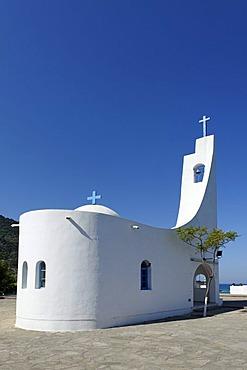 Agios Nicolaos or St. Nicholaos church at Potami beach at Karlovasi, Samos island, southern Sporades, Aegean sea, Greece, Europe