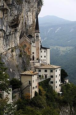 Madonna della Corona Chapel at Spiazzi, Ferrara di Monte Baldo, Verona Province, Veneto, northern Italy, Italy, Europe