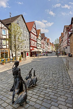 Town with half-timbered houses, Kassel Strasse, Melsungen, Hesse, Germany, Europe, PublicGround