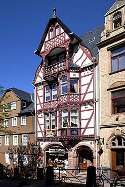 Half-timbered house, Steinweg, Marburg, Hesse, Germany, Europe, PublicGround