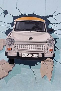 """Trabant, """"Test the Best"""", East Side Gallery, Berlin Wall art, Berlin, Germany, Europe"""