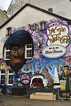 Graffiti on a house in Merzig, Saarland, Germany, Europe