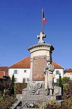 War memorial, Evillers, Pontarlier, departement of Doubs, Franche-Comte, France, Europe, PublicGround