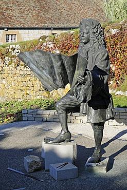 Monument to Vauban, general, builder, La Citadelle, Citadel, fortifications of Vauban, UNESCO World Heritage Site, Besancon, department of Doubs, Franche-Comte, France, Europe