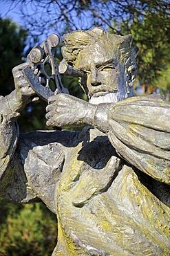 Jules Verne, author, monument, Nantes, department of Loire-Atlantique, Pays de la Loire, France, Europe, PublicGround