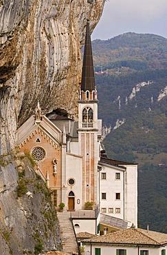 The chapel Madonna della Corona near Spiazzi, Ferrara di Monte Baldo, Verona, Veneto, Italy, Europe