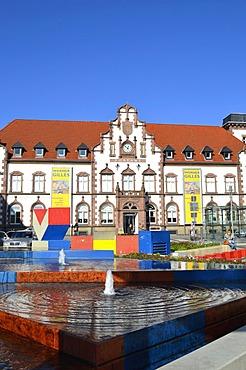 Kunstmuseum Muelheim an der Ruhr, art museum, in the Alte Post building, former postal building, Synagogenplatz square, Muelheim an der Ruhr, Ruhr Area, Germany, Europe, PublicGround