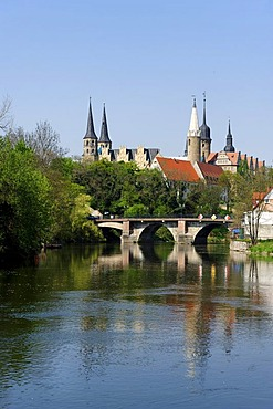 Cathedral district and castle above the Saale river, Merseburg, Saxony-Anhalt, Germany, Europe
