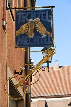 Techtelmechtel pub, public house, Volkach, Lower Franconia, Franconia, Germany, Europe