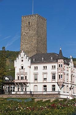 Broemserburg castle, Ruedesheim, Rheingau, Hesse, Germany, Europe