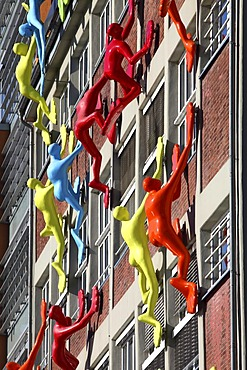 Flossis, art installation by artist Rosalie, Medienhafen media harbour, Duesseldorf, Rhineland, North Rhine-Westphalia, Germany, Europe, PublicGround