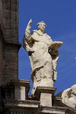 Sculpture, Puerta de los Hierros, Cathedral, Valencia, Spain, Europe