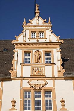 Schloss Neuhaus castle, an outstanding Weser-Renaissance building in Paderborn, North Rhine-Westphalia, Germany, Europe