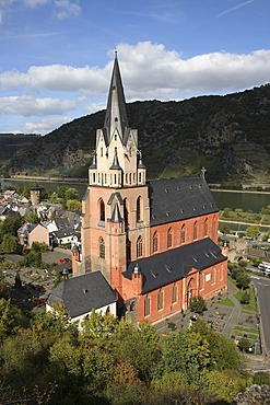 Liebfrauenkirche, Church of Our Lady, Oberwesel, Upper Middle Rhine Valley, UNESCO World Heritage Site, Rhineland-Palatinate, Germany, Europe