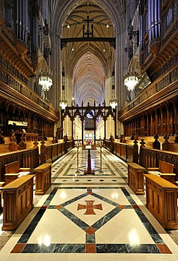 Choir area, Washington National Cathedral or Cathedral Church of Saint Peter and Saint Paul in the diocese of Washington, Washington, DC, District of Columbia, United States of America, USA