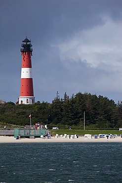 Lighthouse in Hoernum on Sylt Island, Schleswig-Holstein, Germany, Europe