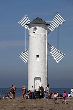 Windmill, Muehlenbake, seaside resort of Swinoujscie, Usedom Island, West Pomerania, Poland, Europe, PublicGround