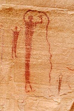 Native American Indian rock art Buckhorn Draw Petroglyphs, San Rafael Swell, Utah, USA, North America
