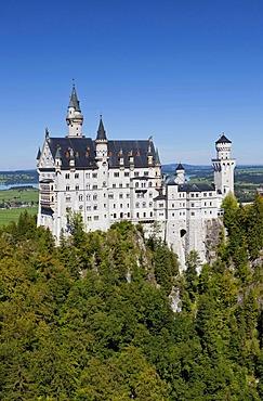 Schloss Neuschwanstein Castle, Allgaeu, Bavaria, Germany, Europe