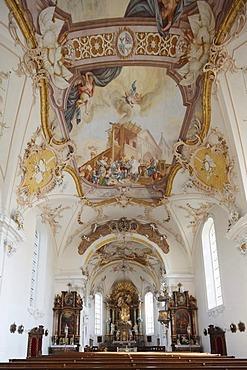 Pilgrimage Church of St. Rasso, Grafrath, Fuenfseenland, Five Lakes district, Upper Bavaria, Bavaria, Germany, Europe