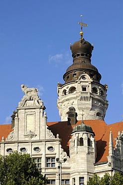 New City Hall, City Hall Tower, Leipzig, Saxony, Germany, Europe, PublicGround