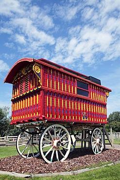 Gypsy or Romany caravan, Horsham, Sussex, England, United Kingdom, Europe