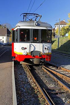 Les Brenets, narrow gauge railway, Le Locle, Neuchatel, Switzerland, Europe