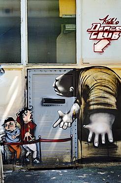 Monster graffiti near the Theater-Halle 7, Gerolsteiner Ring, Munich, Bavaria, Germany, Europe, PublicGround