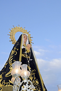 Statue of Mary, Madonna, Easter procession, Altea, Alicante, Spain, Europe