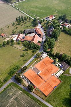 Aerial view, Geithe Tennis Club, Hamm, Ruhr area, North Rhine-Westphalia, Germany, Europe