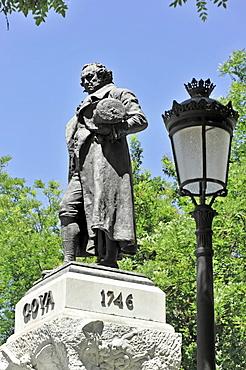 Francisco de Goya monument, Puerta de Goya gate, Museo del Prado museum, Madrid, Spain, Europe