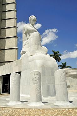 Monumento Jose Marti monument, memorial to the Cuban writer and national hero, 105 meters high, Plaza de la Revolucion square, Havana, Cuba, Caribbean