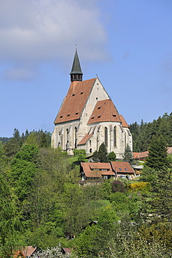 Gothic Wolfgangskirche church, Kirchberg, Lower Austria, Austria, Europe