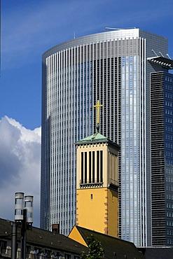 St. Matthew's Church, Bahndirektion building, Frankfurt am Main, Hesse, Germany, Europe