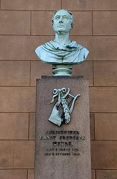 Bust of Christoph Ernst Friedrich Weyse, German-Danish composer, Copenhagen, Denmark, Scandinavia, PublicGround
