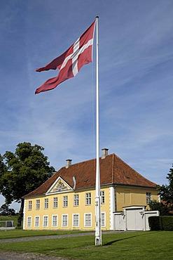 Danish flag, fort, Kastellet, Copenhagen, Denmark, Scandinavia, Europe