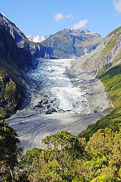 Fox Glacier, Te o Moeka o Tuawe, in Westland National Park, South Island of New Zealand