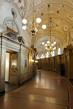 Walkway in the Semper-Oper opera, Dresden, Saxony, Germany, Europe