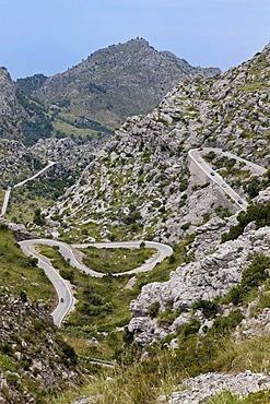 Road to Sa Calobra, Majorca island, Balearic Islands, Spain, Europe