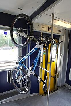 Veloverlad, self-loading bicycle rack, bicycle transport on trains, Swiss Railways, Switzerland, Europe