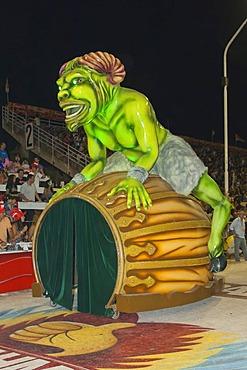 Float at the Gualeguaychu Carnival, Entre Rios Province, Argentina, Latin America